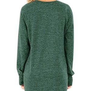 Sweaters - New Casual Solid Sweater Twist Knot Tunic Top